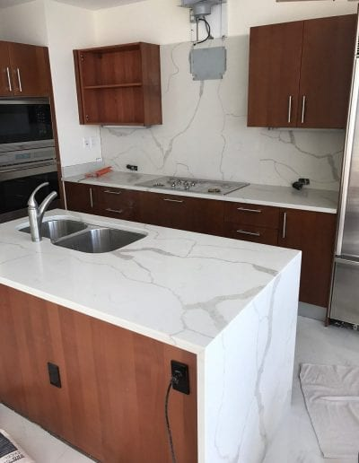 Waterfall Counter and Kitchen Remodel