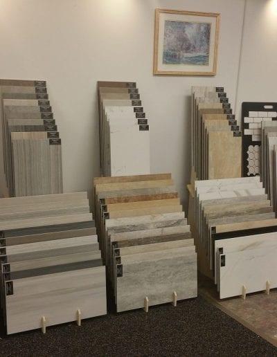 Large Tile Sample in Showroom