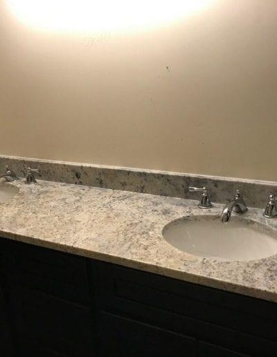 Double Vanity and Sink Countertop Remodel