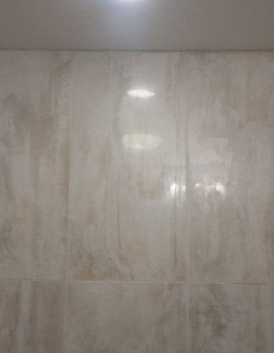 Large Tile Bathroom Wall Refinsh