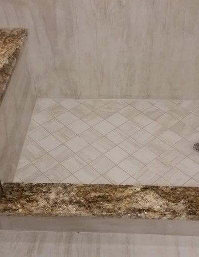 Shower Base Tile and Ledge