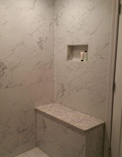 Shower Tile and Ledge Remodel