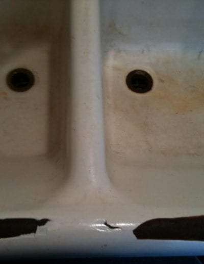 Before Double Utility Sink Close-up