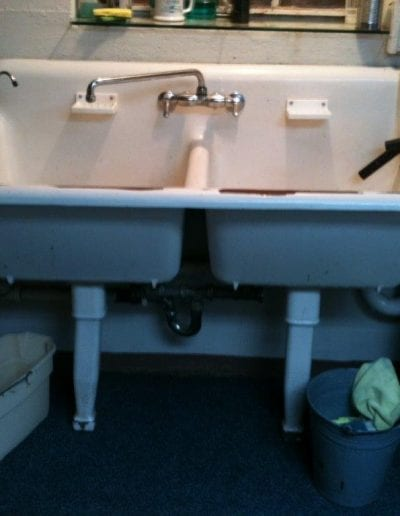 Double Utility Sink Before