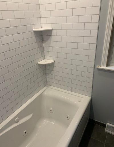 After Bathroom Remodel with Soaker Tub