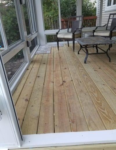 Before Porch Tile Floor Installation