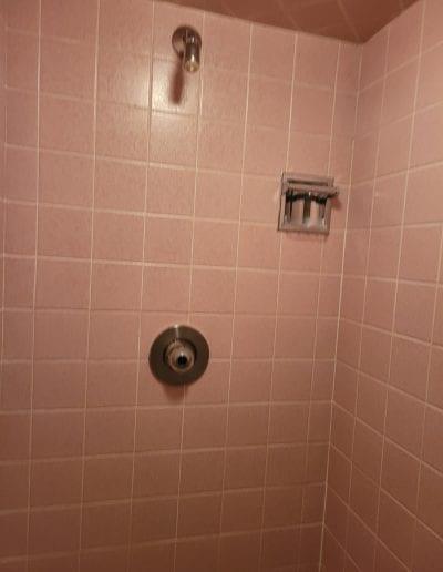 Before Shower Stall Refinishing