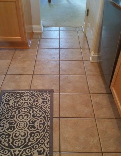 Before Tile to Wood Floors