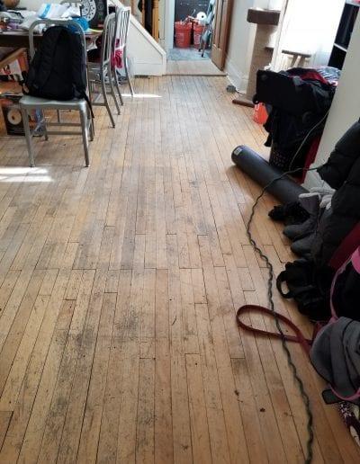 Before Wood Floor Remodel